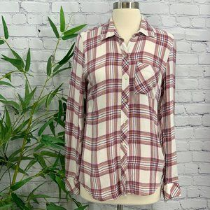GAP Plaid Long Sleeve Button Down Top